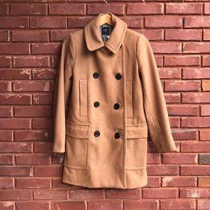 Gap tan pea coat small NWT